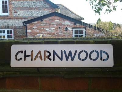 Stainless Steel House Name Plate Charnwood.JPG